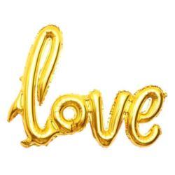"""Balon foliowy 22"""" """"Love"""" - złoty"""