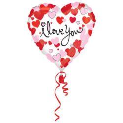 Balon foliowy serce I LOVE YOU 1 szt.