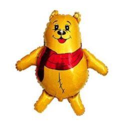 "Balon, foliowy 14"" FX - ""Scarf Bear - Puchatek"""