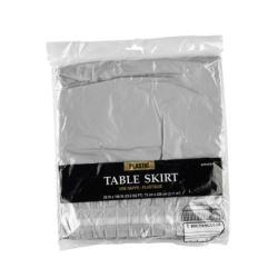 Falbana na boki stolu, plastik, srebrna, 426 x 73