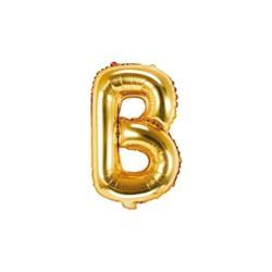 """Balon foliowy Litera """"B"""", 35cm, złoty"""