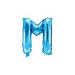 """Balon foliowy Litera """"M"""", 35cm, niebieski"""