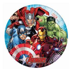 """Talerzyki papierowe """"Mighty Avengers"""", rozm. 20 cm"""