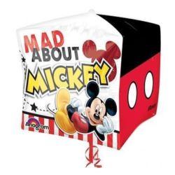 """balony, balony na hel, dekoracje balonowe, balony Łódź, balony z nadrukiem, Balon, foliowy 15""""CBZ - """"Micke Mouse"""" (sześcian)"""