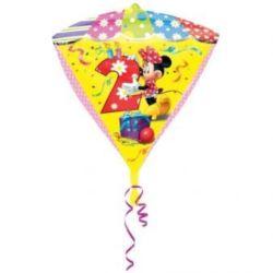 """balony, balony na hel, dekoracje balonowe, balony Łódź, balony z nadrukiem, Balon, foliowy 38x43 cm """"Diament - Myszka Miki 2"""""""