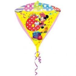 """balony, balony na hel, dekoracje balonowe, balony Łódź, balony z nadrukiem, Balon, foliowy diament """"Myszka Minnie """"6"""" 38x43 cm"""