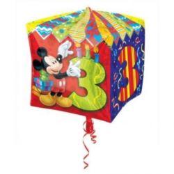 """balony, balony na hel, dekoracje balonowe, balony Łódź, balony z nadrukiem, Balon, foliowy 15""""CBZ - """"Micke Mouse Age 3"""