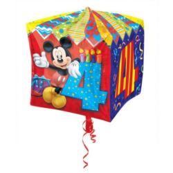 balony, balony na hel, dekoracje balonowe, balony Łódź, balony z nadrukiem, Balon, foliowy kostka Myszka Miki 4 urodziny