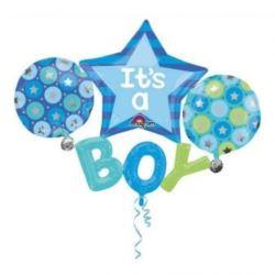 """balony, balony na hel, dekoracje balonowe, balony Łódź, balony z nadrukiem, Multi Balloon """"It's a Boy"""" 134x99 cm"""