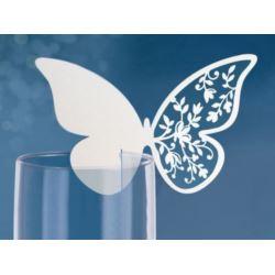 Wizytówki na kieliszki Motyl, 12,5z7,6 cm