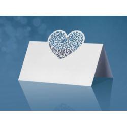 Wizytówki na stół serca, 9 x 6,5cm, 10 szt.
