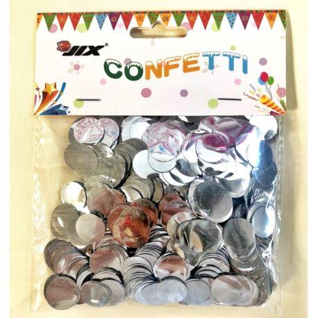 Konfetti 50 g 1,5 cm, srebrny