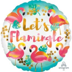 "Balon foliowy ""Let`s Flamingle"" 43 cm 1 szt."