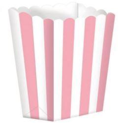Pojemnik na popcorn 9,5 x 13,5 cm rozowa