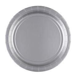 Talerze papierowe srebrne 22,8cm