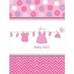 Obrus Baby Shower Dziewczynka 138x259 cm