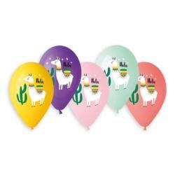 Balony Premium Hel Lama i Kaktusy, 13 cali/ 5 szt.