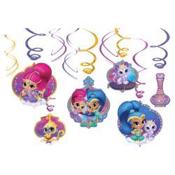 balony, balony na hel, dekoracje balonowe, balony Łódź, balony z nadrukiem, Sprezynki Shimmer&Shine 6szt.