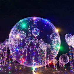 balony, balony na hel, dekoracje balonowe, balony Łódź, balony z nadrukiem, Lampki LED do balonów transparentnych- kolor