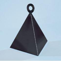 """balony, balony na hel, dekoracje balonowe, balony Łódź, balony z nadrukiem, Ciężarek QL """"Piramida"""", czarny 1 szt."""