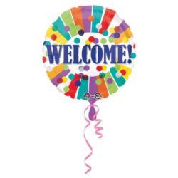 Balon foliowy Welcome! 43 cm 1 szt.