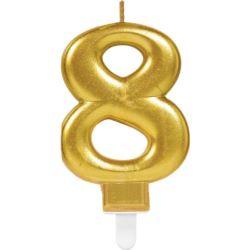 Swieczka cyferka 8 Sparkling Celebrations Gold