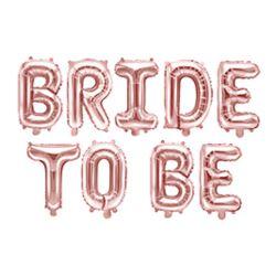 Balon foliowy Bride to be, 340x34cm różowe złoto