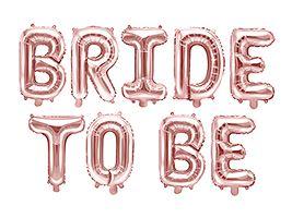 Image of Balon foliowy Bride to be, 340x34cm różowe złoto