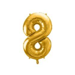 """Balon foliowy Cyfra """"8"""", 86cm, złoty"""