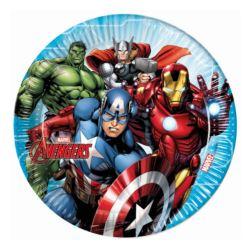 """Talerzyki papierowe """"Mighty Avengers"""", 23 cm, 8 sz"""