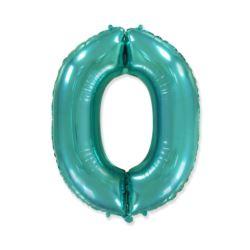 "Balon foliowy FX - ""Number 0"" tiffany, 85 cm"