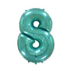 "Balon foliowy FX - ""Number 8"" tiffany, 85 cm"