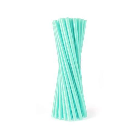 Rurki (słomki) JUMBO pastelowe, turkusowe/ 100 szt