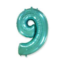 "Balon foliowy FX - ""Number 9"" tiffany, 85 cm"