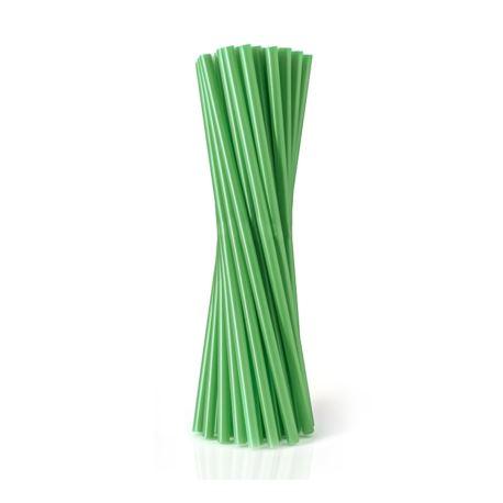 Rurki (słomki) proste zielone, 8x240mm / 100 szt.