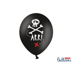 Balony 30cm, Piraci, Pastel Black
