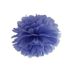 Pompon bibułowy, granat 35 cm, 1 szt.