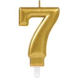 Swieczka cyferka 7 Sparkling Celebrations Gold