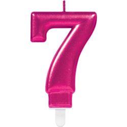 Swieczka cyferka 7 Sparkling Celebrations Pink
