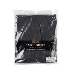 Falbana na boki stolu plastikowa czarny 426 x 73 c
