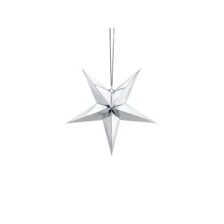 Gwiazda papierowa, 30cm, srebrny