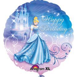 balony, balony na hel, dekoracje balonowe, balony Łódź, balony z nadrukiem, Balon, foliowy Kopciuszek Happy Birthday 47 cm