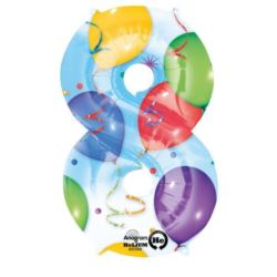"Balon, foliowy Cyfra ""8"" multicolor 53x83 cm"