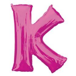 """Balon foliowy Litera """"K"""" różowy, 66x83 cm"""