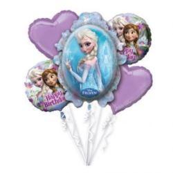 """Bukiet balonów foliowych """"Frozen Happy Birthday"""""""