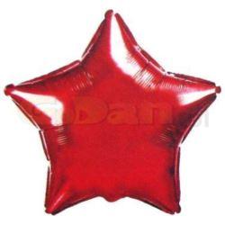 """Balon, foliowy JUMBO FX - """"Gwiazda"""" (czerwona)"""