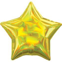 balony, balony na hel, dekoracje balonowe, balony Łódź, balony z nadrukiem, Balon foliowy gwiazda standard hologram 43cm