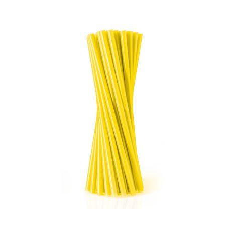 Rurki (słomki) JUMBO pastelowe, żółte/ 100 szt.