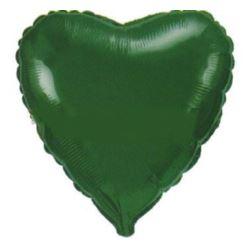 """Balon, foliowy 18"""" FX - """"Serce"""" zielone"""