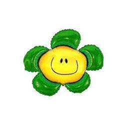 """balony, balony na hel, dekoracje balonowe, balony Łódź, balony z nadrukiem, Balon, foliowy 24"""" FX - """"Kwiatek""""(zielony)"""